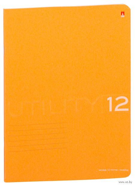 """Тетрадь в линейку """"Utility"""" (12 листов; в ассортименте) — фото, картинка"""