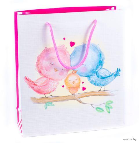 """Пакет бумажный подарочный """"With Love"""" (40х31х9 см; продается только в розничных магазинах OZ) — фото, картинка"""