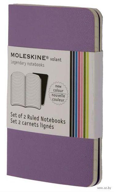 """Записная книжка Молескин """"Volant"""" в линейку (карманная; мягкая обложка, цвет: пурпурный; 2 штуки)"""