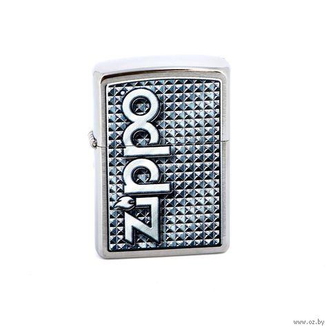 Зажигалка Zippo 28280 Brashed Chrome — фото, картинка