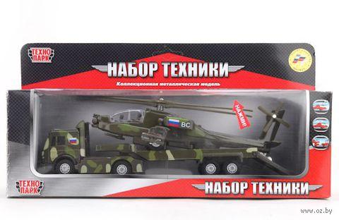 """Игровой набор """"Военный"""" (трейлер и вертолет)"""