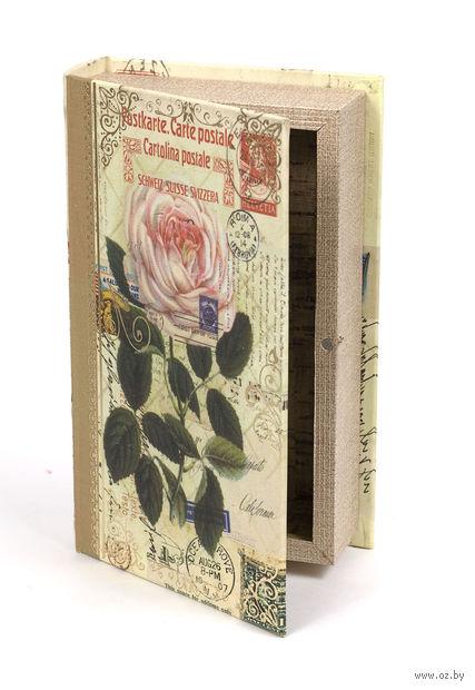 Шкатулка деревянная (210х130х50 мм; арт. 7790046) — фото, картинка