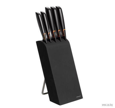Набор ножей металлических в деревянной подставке Edge Fiskars (5 шт.)