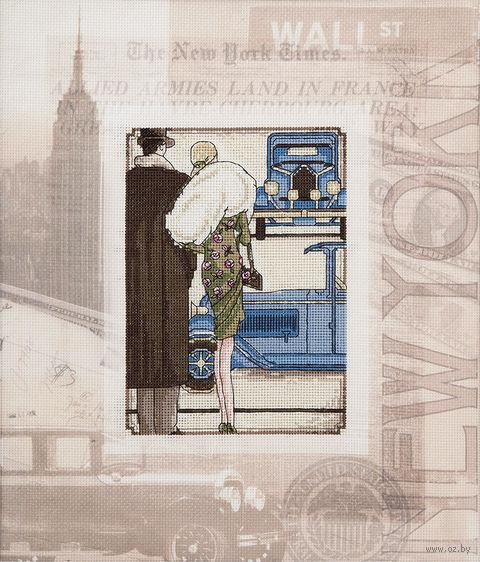 """Вышивка крестом """"Ретро. Нью-Йорк"""" — фото, картинка"""