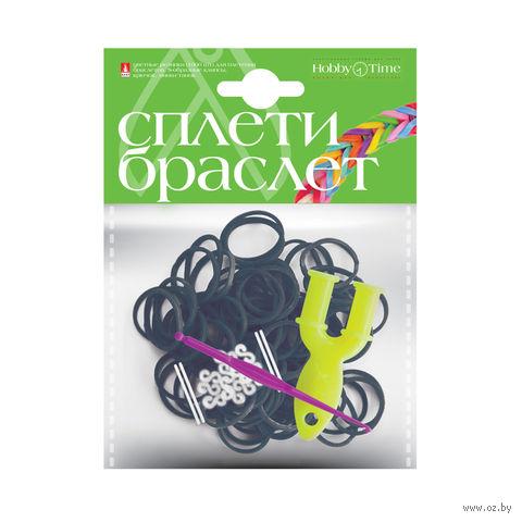 """Набор для плетения из резиночек """"Черный"""" (1000 шт.) — фото, картинка"""