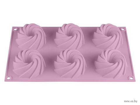 Форма силиконовая для выпекания кексов (292x173x35 мм; лиловая) — фото, картинка