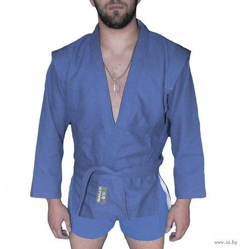 Куртка для самбо AX5 (р. 44; синяя; без подкладки) — фото, картинка
