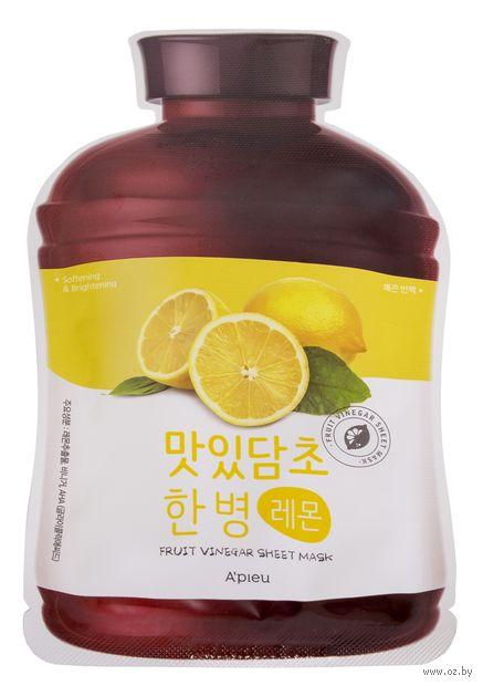 "Тканевая маска для лица ""Fruit Vinegar"" (20 г) — фото, картинка"