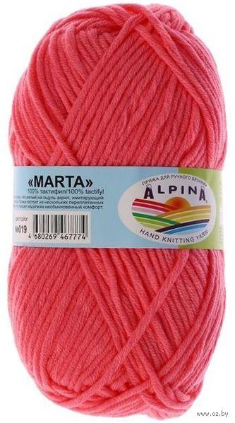 """Пряжа """"ALPINA. Marta №019"""" (100 г; 120 м; розовый) — фото, картинка"""