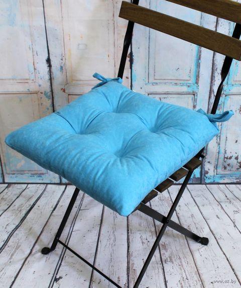 """Подушка на стул """"Velours"""" (42х42 см; светло-голубая) — фото, картинка"""