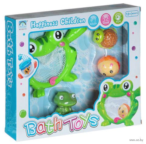 "Набор игрушек для купания ""Лягушка-сачок с друзьями"""