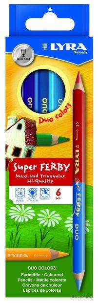 """Цветные карандаши """"SUPERFERBY DUO BICOLOR"""" (6 шт; 12 цветов)"""