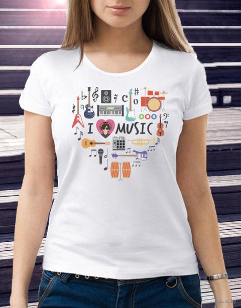 "Футболка женская ""Love music"" 50 (art. 2)"