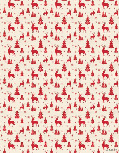 "Простыня хлопковая ""Merry Christmas"" (145х220 см) — фото, картинка"