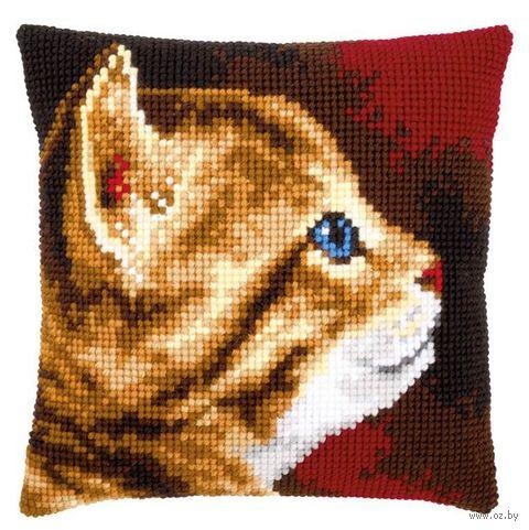 "Вышивка крестом ""Подушка. Котёнок"" (400х400 мм) — фото, картинка"