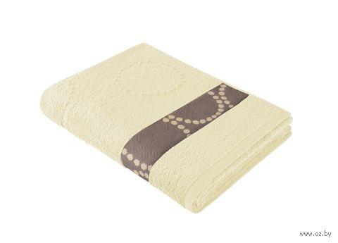 """Полотенце махровое """"Таллин. Круги"""" (70x140 см; ваниль) — фото, картинка"""