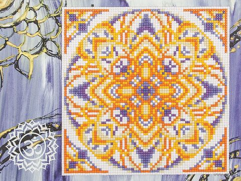 "Алмазная вышивка-мозаика ""Сахасрара"" (180х240 мм) — фото, картинка"