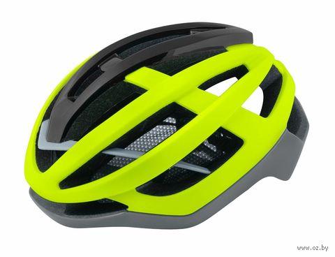 """Шлем велосипедный """"Lynx"""" (L-XL; салатовый/серый) — фото, картинка"""