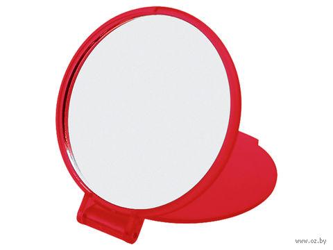 Зеркало карманное (красное)
