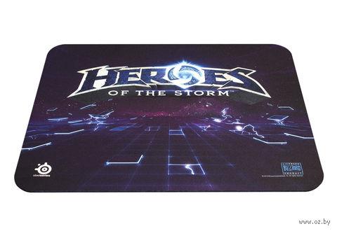 Коврик для мыши Steelseries QcK Heroes of the Storm (черный/синий)