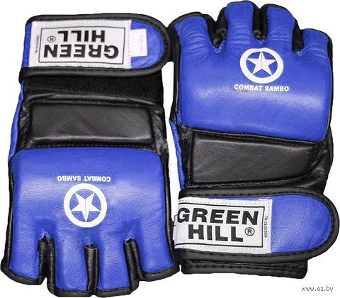 """Перчатки для MMA """"Combat Sambo"""" MMR-0027CS (XL; синие) — фото, картинка"""