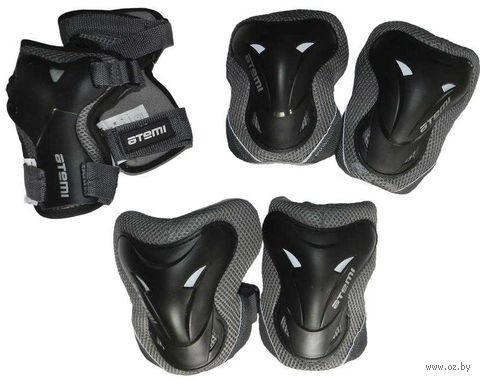 Комплект роликовой защиты ASGK-02 (XS; чёрный) — фото, картинка
