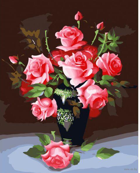 """Картина по номерам """"Букет роз"""" (500х400 мм)"""