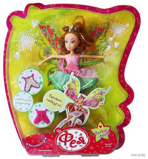 """Кукла """"Фея"""" (с зелеными крыльями) — фото, картинка"""