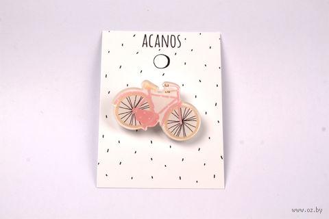 """Брошка """"Розовый велосипед"""" (оргстекло; арт. 20028) — фото, картинка"""