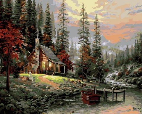 "Картина по номерам ""В горах"" (400х500 мм) — фото, картинка"