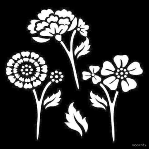 """Трафарет пластиковый """"Летние цветы"""" (арт. PLD-30589)"""