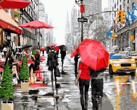 "Картина по номерам ""Дождь в Нью-Йорке"" (500х650 мм) — фото, картинка"