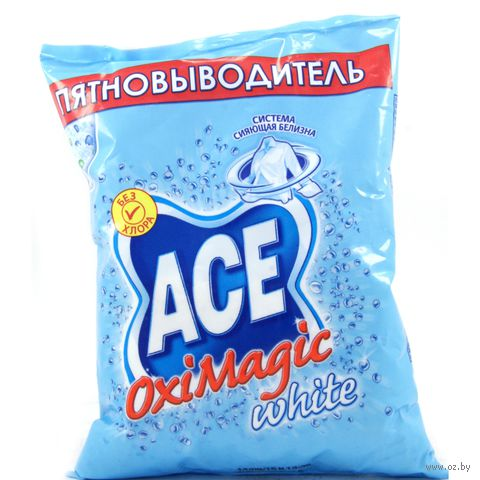 Пятновыводитель ACE oximagic White (200 г.)