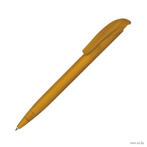 """Ручка шариковая автоматическая """"Challenger Icy""""(цвет корпуса: оранжевый; синий стержень)"""