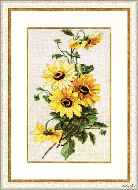 """Вышивка крестом """"Солнечные цветы"""""""