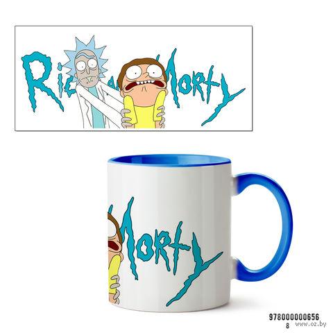 """Кружка """"Рик и Морти"""" (656, голубая)"""
