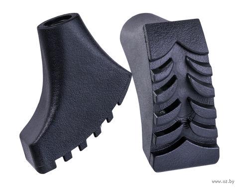 Комплект наконечников для скандинавских палок (2 шт.; чёрный) — фото, картинка