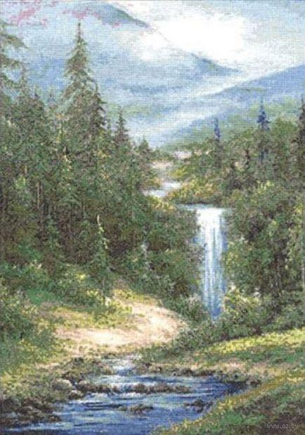 "Вышивка крестом ""Водопад"" (390х290 мм) — фото, картинка"
