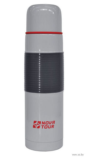 """Термос из нержавеющей стали """"Твист 800"""" 0,8 л (серый) — фото, картинка"""