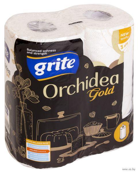 """Бумажные полотенца """"Orchidea Gold"""" (2 рулона; белые) — фото, картинка"""