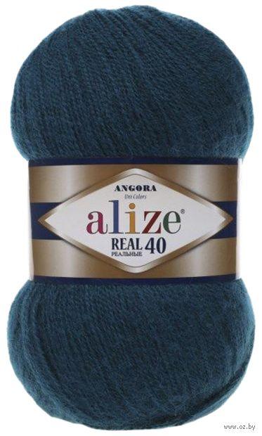 "Пряжа ""ALIZE. Angora Real 40 №17"" (100 г; 480 м; петроль) — фото, картинка"
