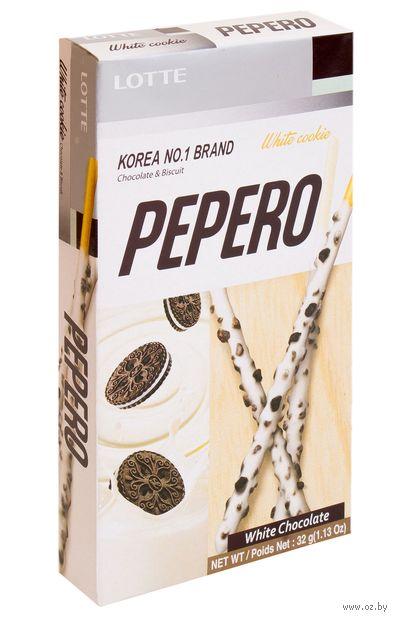 """Соломка """"Lotte. White Cookie Pepero"""" (32 г) — фото, картинка"""
