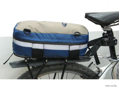 """Велосумка """"Крок-8"""" (светло-серая/синяя) — фото, картинка"""