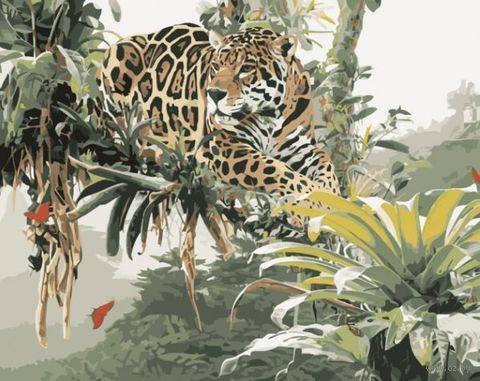 """Картина по номерам """"Ягуар"""" (400x500 мм; арт. love766)"""