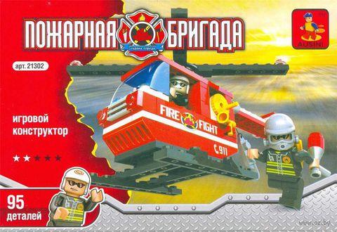 """Конструктор """"Пожарная бригада. Пожарный вертолет"""" (95 деталей) — фото, картинка"""
