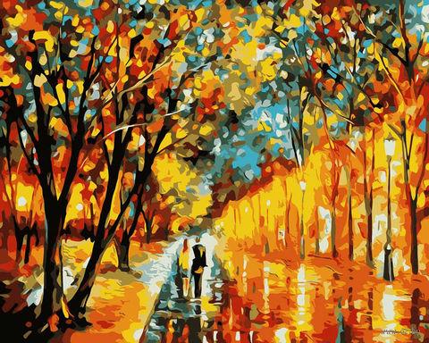 """Картина по номерам """"Вечерняя прогулка"""" (400x500 мм) — фото, картинка"""