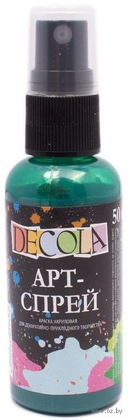 "Краска-спрей ""Decola"" (изумрудная; 50 мл) — фото, картинка"
