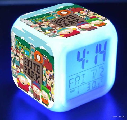 "Часы настольные ""South Park"" (8х8 см) — фото, картинка"