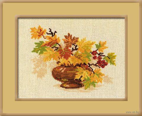 """Вышивка крестом """"Осенний букет"""" (300х240 мм) — фото, картинка"""
