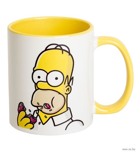 """Кружка """"Симпсоны. Гомер"""" (арт. 001, желтая)"""
